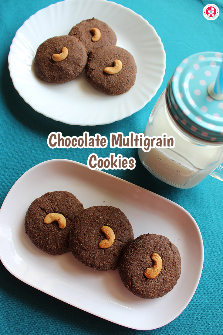 Chocolate Multigrain Cookies prove to be the best Lip smacking treat of healthy, chocolaty and crispy cookies made with my little Moppet health mix