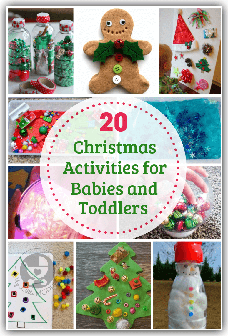 Even little babies and toddlers can enjoy the holiday season with these Christmas Activities for Babies and Toddlers that also help develop motor skills!