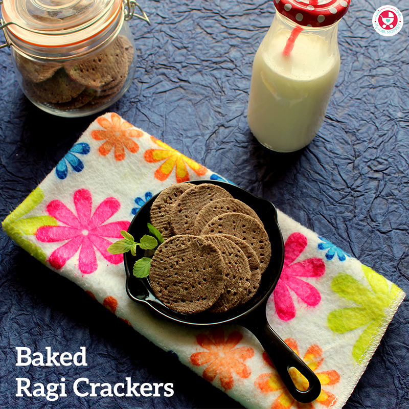Baked Ragi Crackers with Sesame Seeds are healthy snacking option for all ages. The ingredients are rich in vitamins and minerals and good source of calcium.