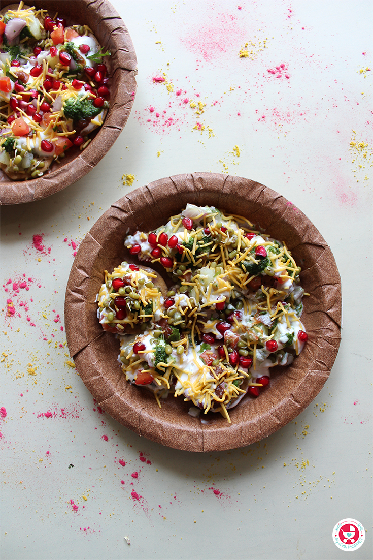 Sathumaavu Dahi Papdi Chaat is a nutritious chaat variety made with the healthy sathumaavu, which will add more fun, color, taste and heath to diet.