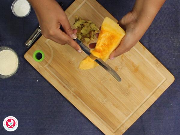 Pumpkin Sooji Fingers for Babies and Kids