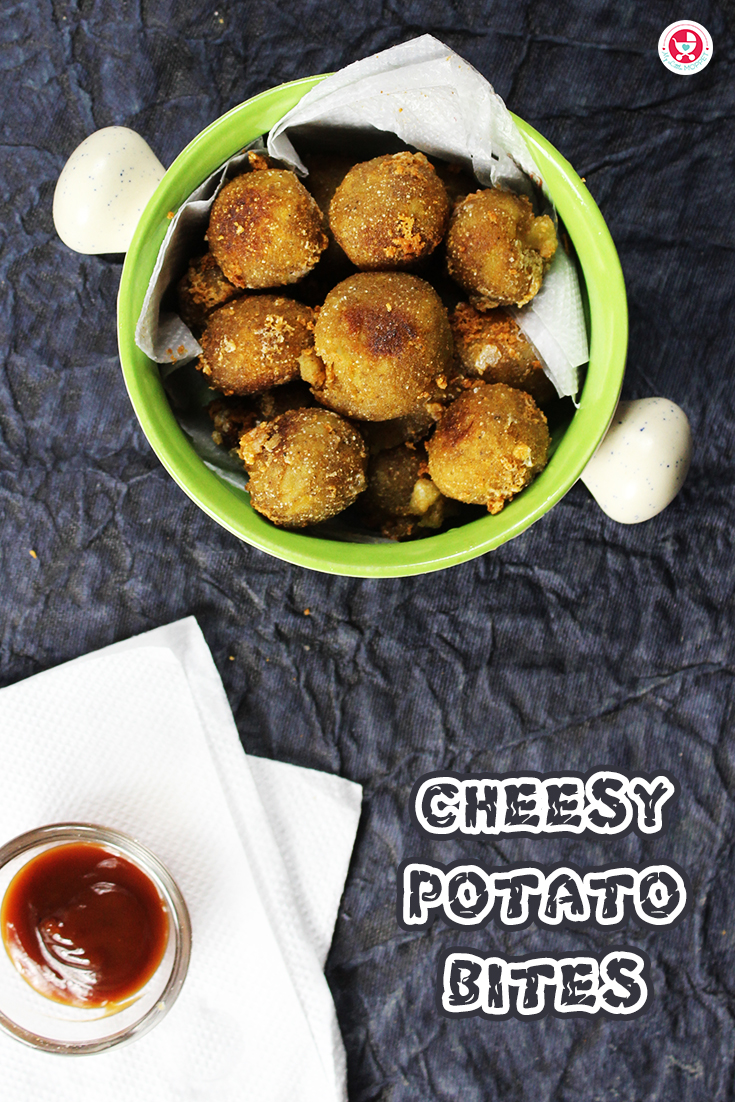 Cheesy Potato Bites is a nutritious and yummy weight gain food which can be given as a finger food for 8 months' babies.