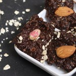 """NO BAKE Chocolate Granola Bar"" is loaded with the goodness of oats, dates and nuts. It's a simple but a yummy treat for your kids."