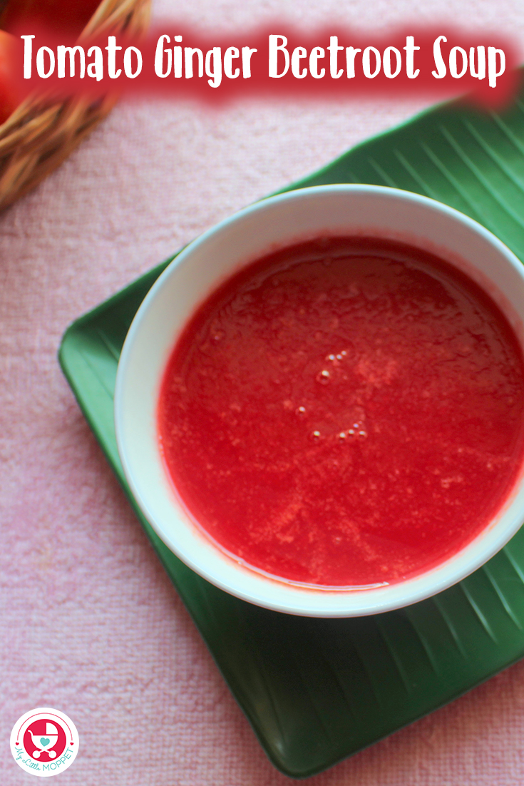 Tomato ginger beetroot soup combines the best immunity boosting ingredients and hence the best to increase the immunity in babies.