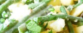 Salade de légumes nouveaux, pomme de terre, haricots verts