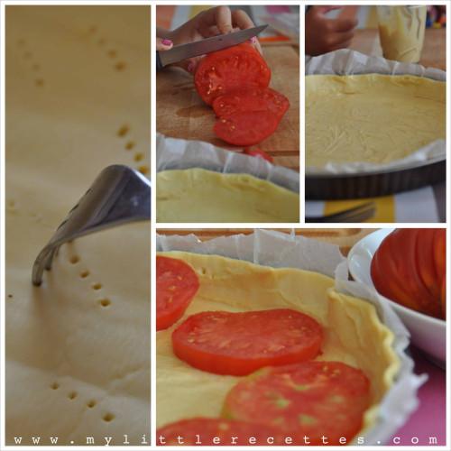 Tarte feuilletée à la tomate et à la moutarde