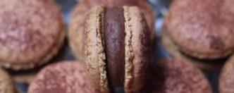 Macarons aux chocolat noir & cacao