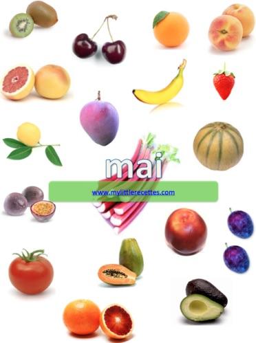 Produits frais et de saison - mai