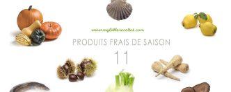 Les produits frais et de saison à consommer en novembre