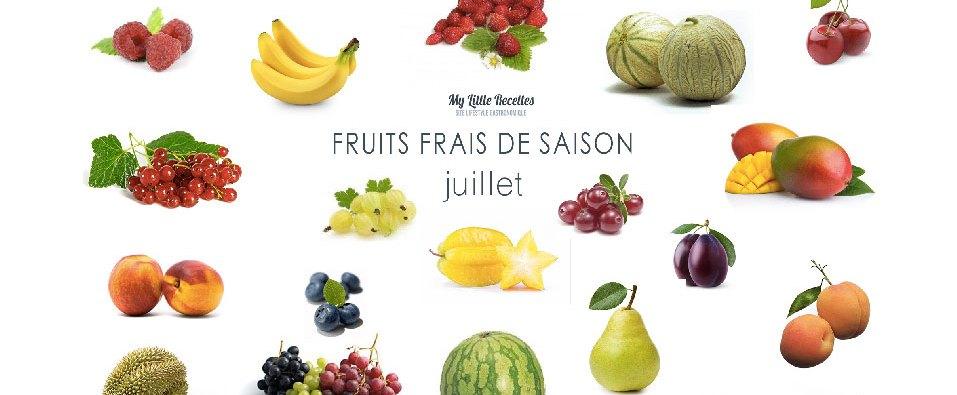 Fruits frais juillet