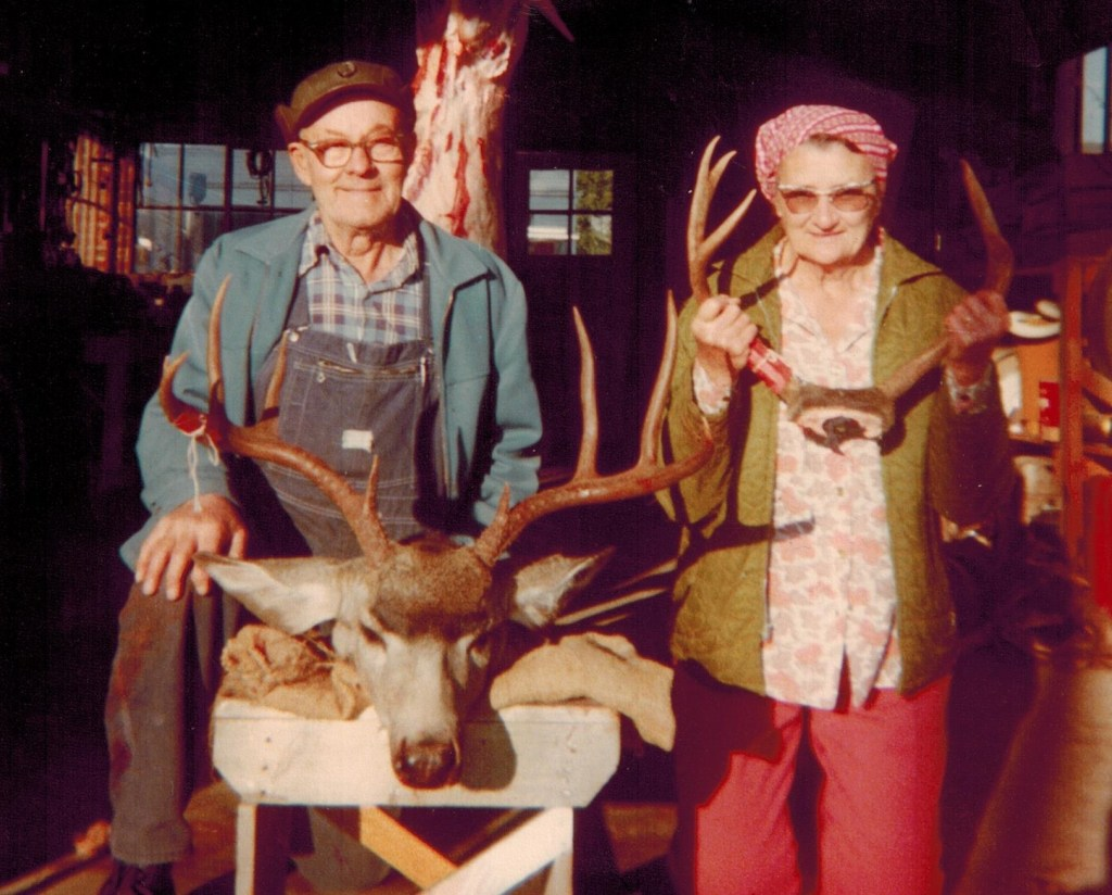 Russell and Leona and deer