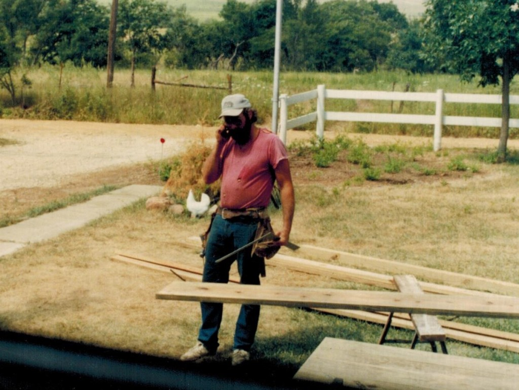 Randy at farm