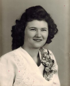 Wanda's wedding photo 1948