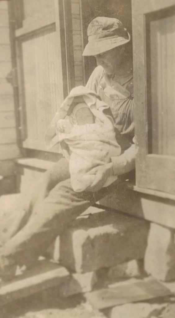 Grandpa and baby Phil