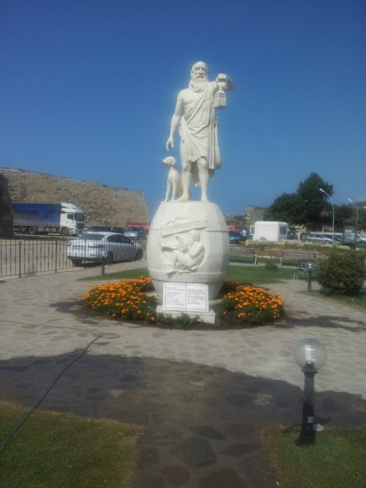 Diogenes' statue