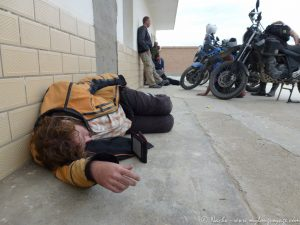 Border bum sleeping