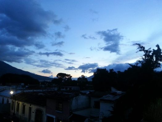 Sunset over La Antigua