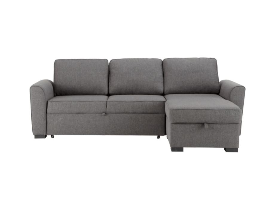 Canapé gris d'angle convertible maison du monde