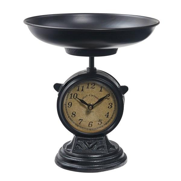 horloge balance noire