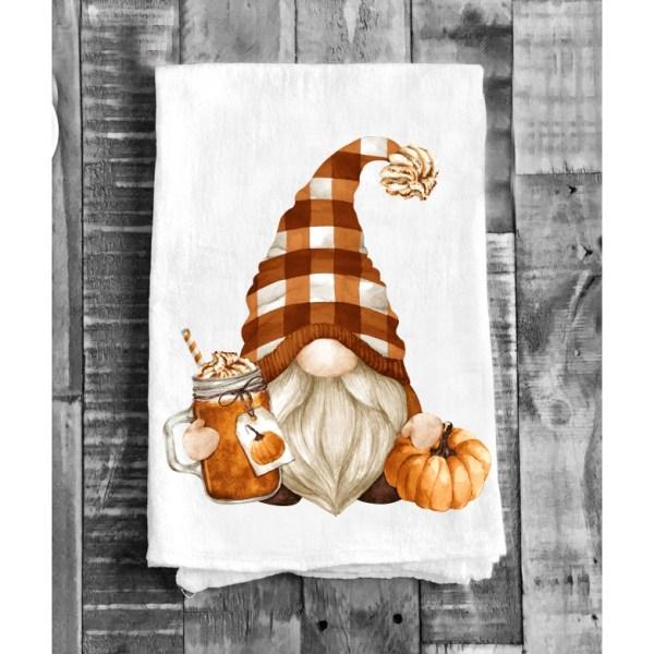 torchon avec nain d'automne