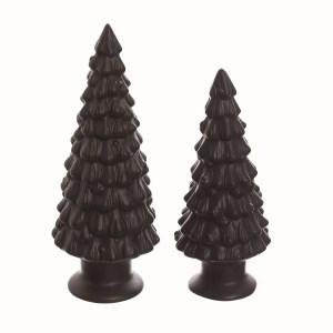 2 arbres noirs en céramique