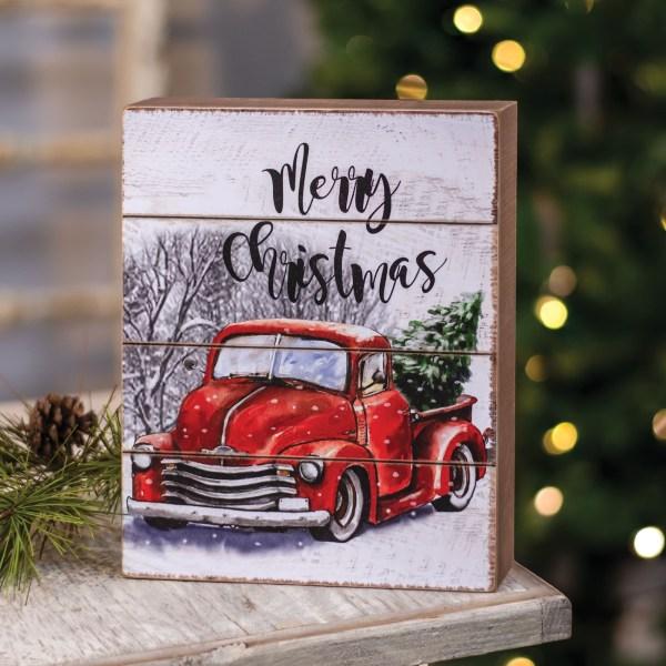 bloc en bois merry christmas