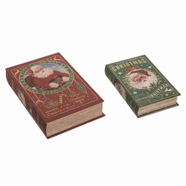 livres en bois de noel vintage