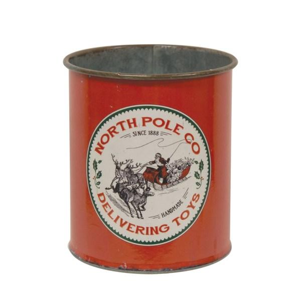 boite north pole en métal