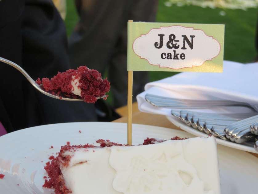 Wedding Cake… 4 tiers & 4 flavors ♥