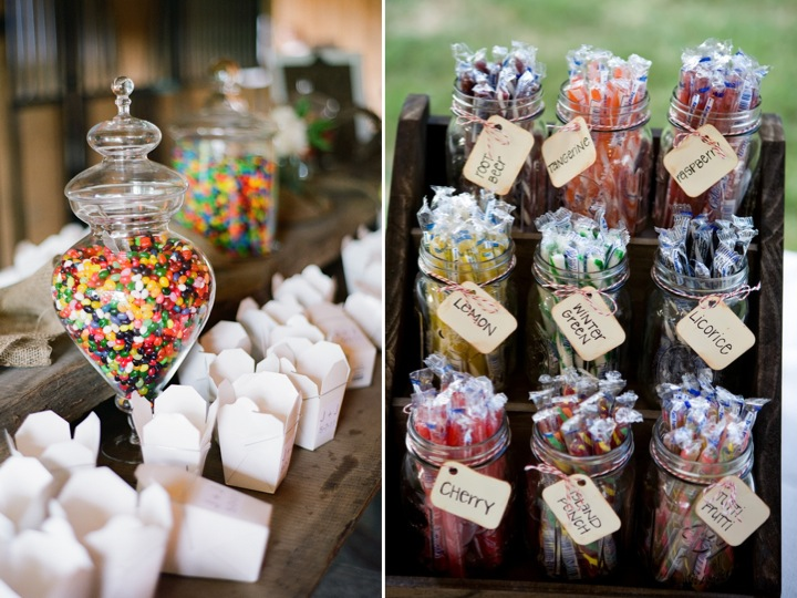 Wow your guests with a candy bar! ♥
