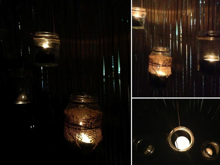 DIY Jar Lanterns @ Night ♥