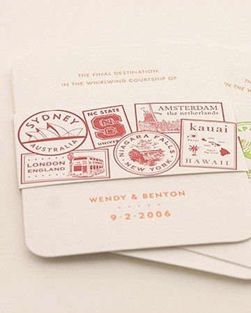 Passport wedding invitations – Creative Box