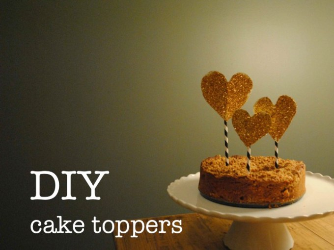 DIY CAKE TOPPERS