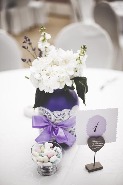 The DIY bride with lavender details…
