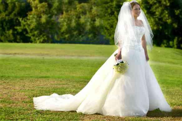 Her wedding dress is from Contessa - Dubai