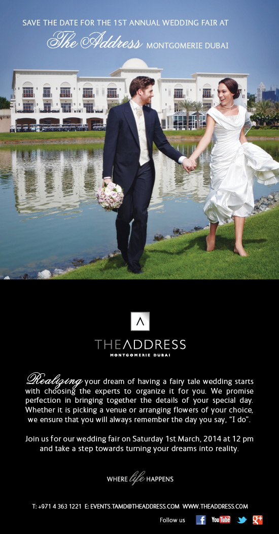 Save the date for the most 'Lovely' Wedding Fair in Dubai. – Saturday 1st March
