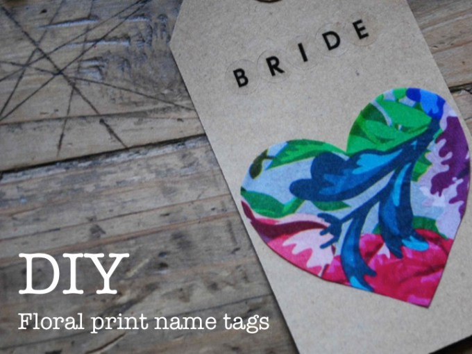 DIY FLORAL PRINT NAME TAGS -  MY LOVELY WEDDING BLOG