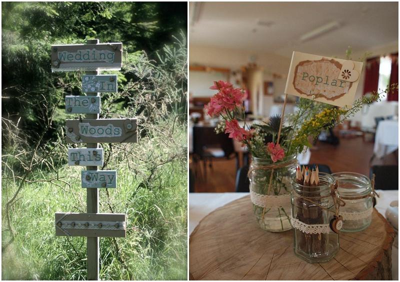 A pretty crafted woodland wedding…