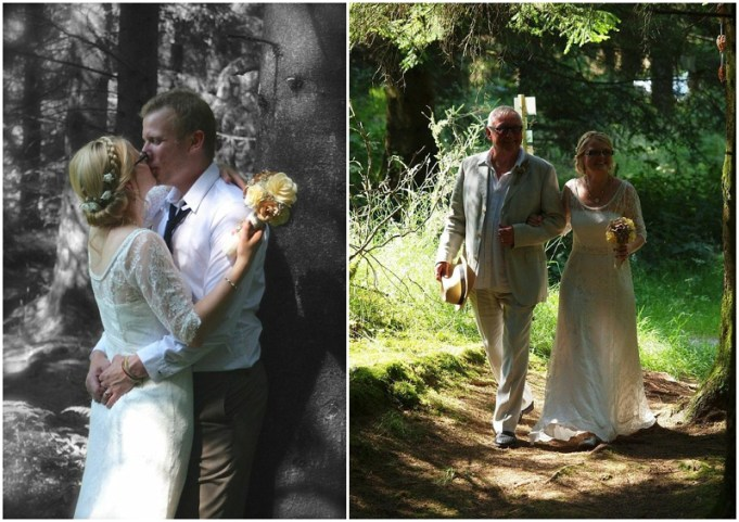Crated woodland wedding - UK