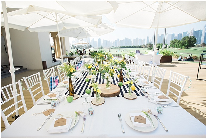 BABY SHOWER STYLING - THE ADDRESS MONTGOMERIE - DUBAI