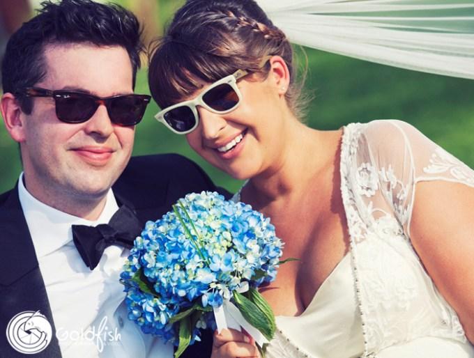 Nick&Helen - Goldfish Photography  - Blue bridal bouquet