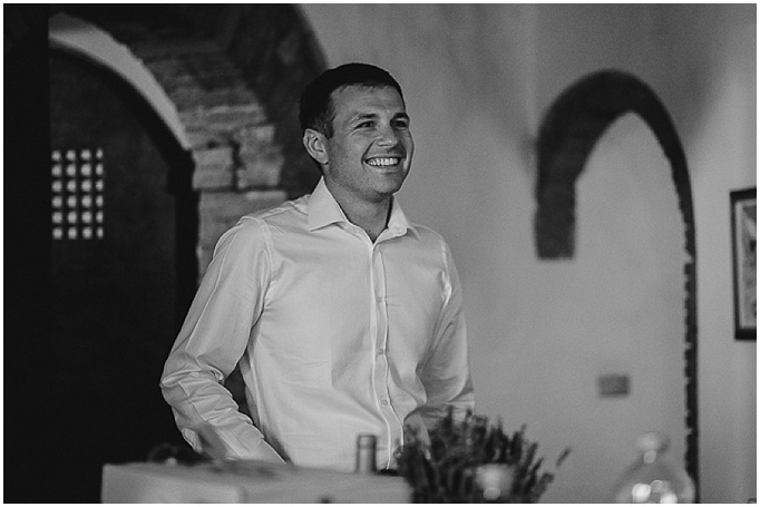 Rustic wedding in Tuscany - Featured on My Lovely Wedding Blog.  - The groom getting ready for his wedding day.