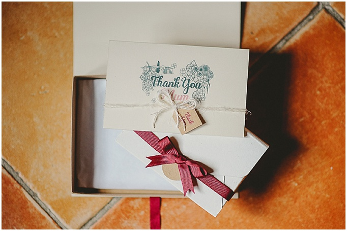 Rustic wedding in Tuscany - Featured on My Lovely Wedding Blog. - Thank you cards for wedding.