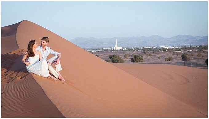 Love in the desert. {UAE engagement shoot}