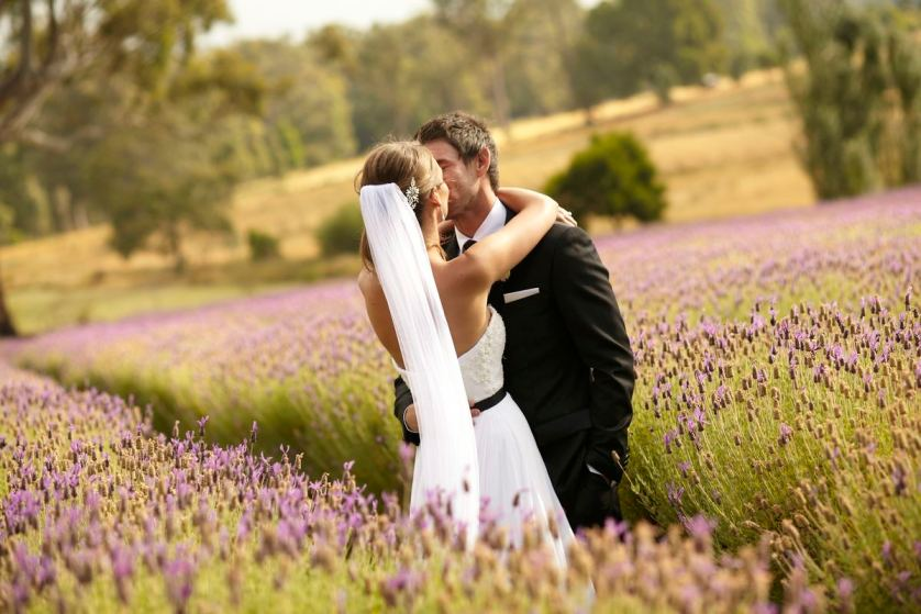 A beautiful bride, a dashing groom & fields of lavender…