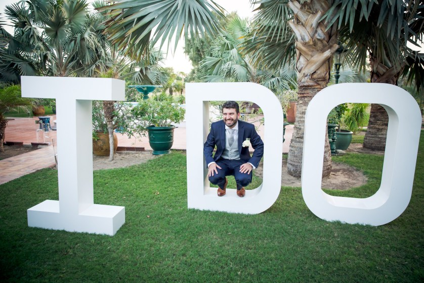 Blaise & Elaine's pretty garden wedding in Dubai.
