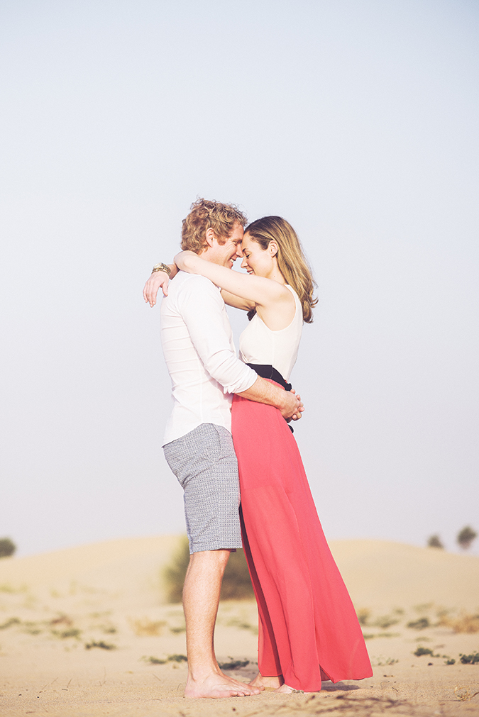 A pre-wedding desert shoot with Abbi Kemp in Dubai.