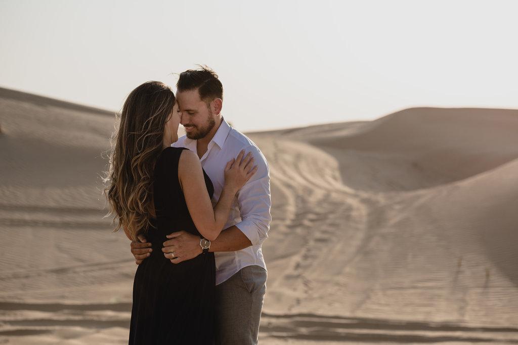 Desert Engagement Shoot by Bernie + Bindi - Dubai wedding photographers