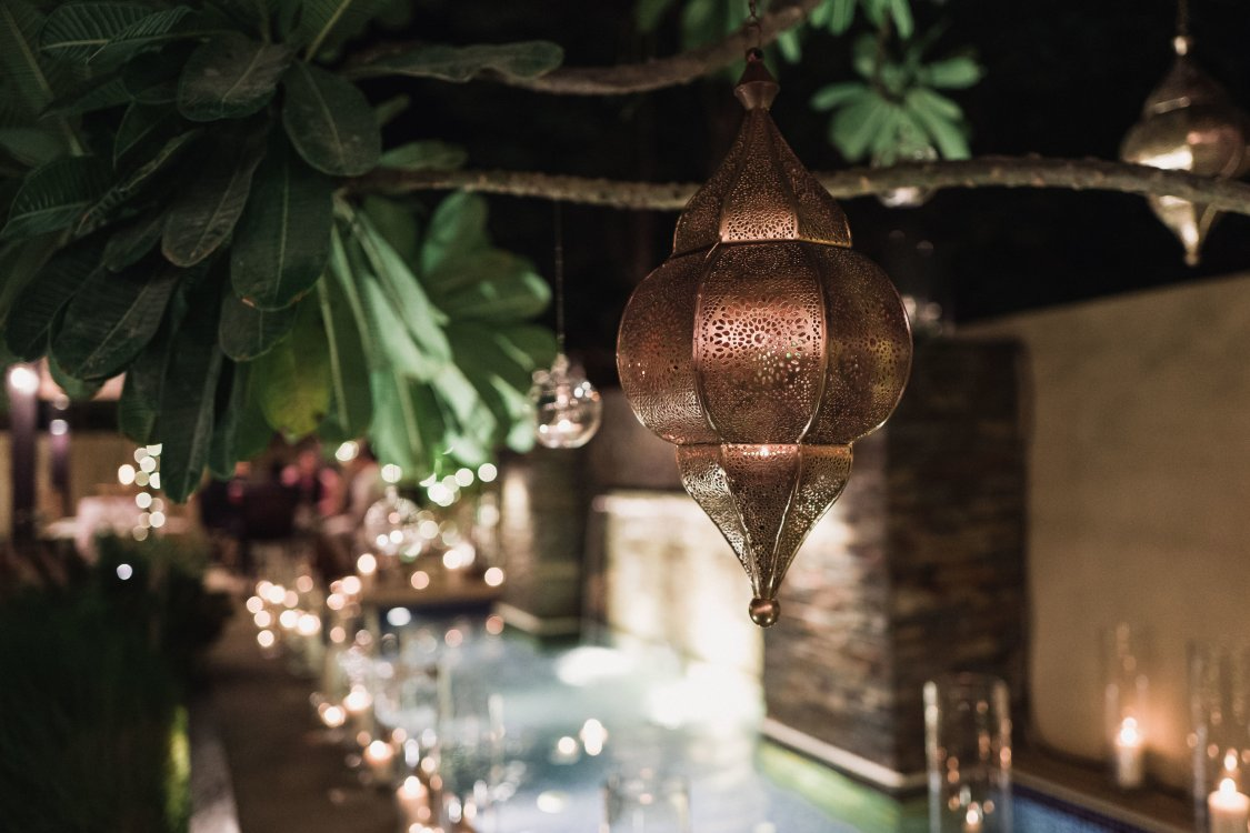 Gold lanterns - styling by My Lovely Wedding Dubai