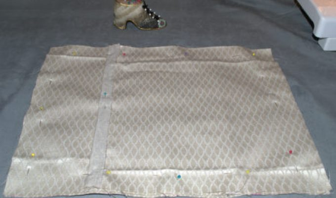"""Pin Front and Back Pieces of Pillow Cover"""